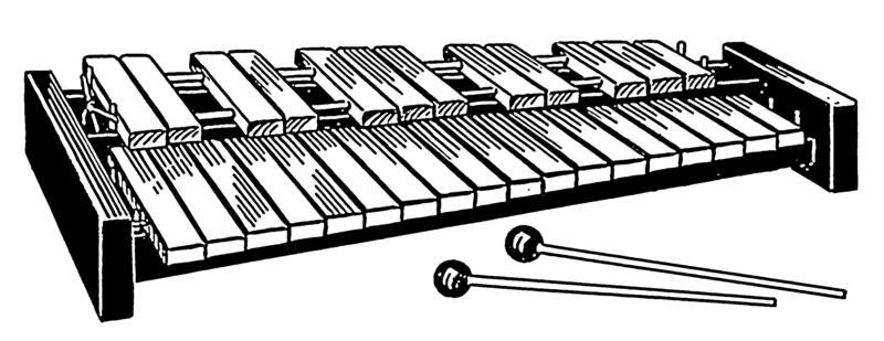 Drawing of xylophone (image)