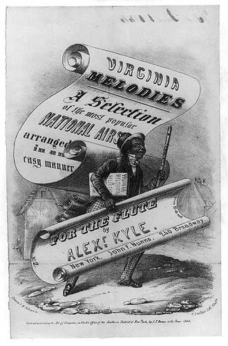 African American with a flute on cover of Virginia Melodies (image)