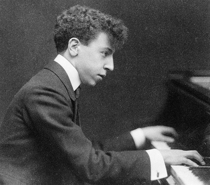 Arthur Rubinstein at piano, c. 1906 (image)