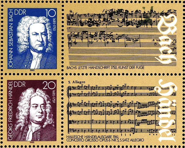 Bach, Handel - GDR, 1985 (image)