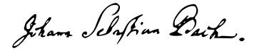 Johann Sebastian Bach signature (image)