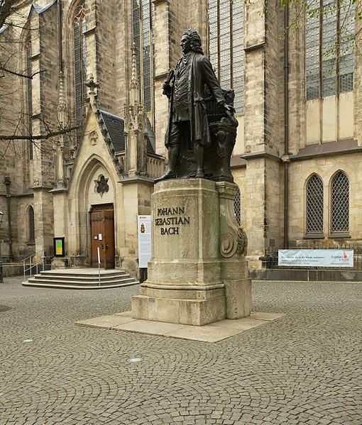 Johann Sebastian Bach statue, Thomaskirche, Leipzig, Germany (image)