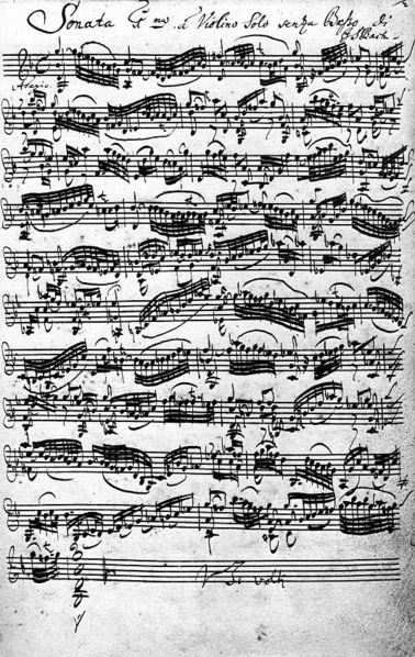 Bach - Violin Sonata No. 1in G minor (image)
