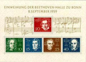 Beethoven's 9th Symphony - 1959 German stamp (image)