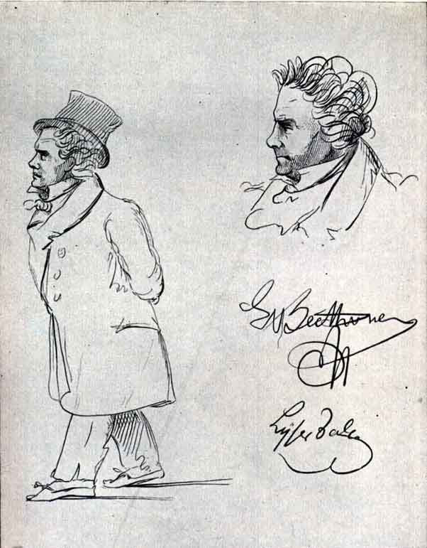 Caricatures of Beethoven in 1815 (image)