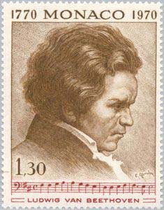 Beethoven on a 1970 Monaco stamp (image)