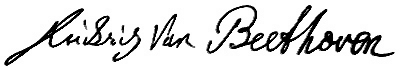 Ludwig van Beethoven's signature (image)