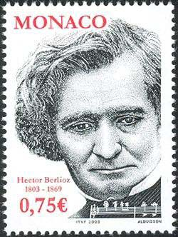 Hector Berlioz on a 1999 Monaco postage stamp (image)