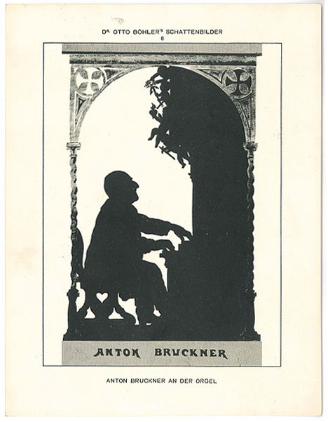 Anton Bruckner at the organ (image)