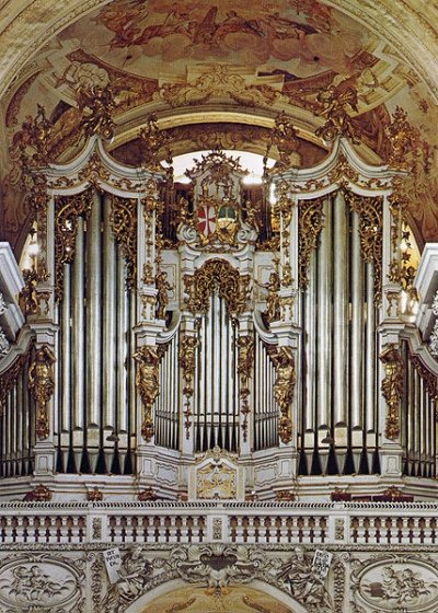 Bruckner's favorite organ in Saint Florian Abbey (image)