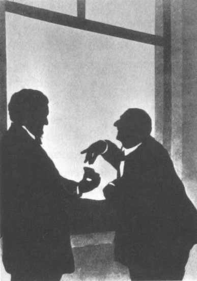 Richard Wagner offers snuff to Anton Bruckner (image)