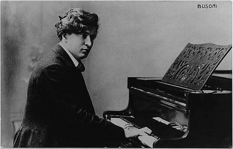 Ferruccio Benevenuto Busoni, Italian pianist and composer, at piano (image)