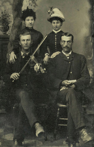 Two couples and a violin (image)