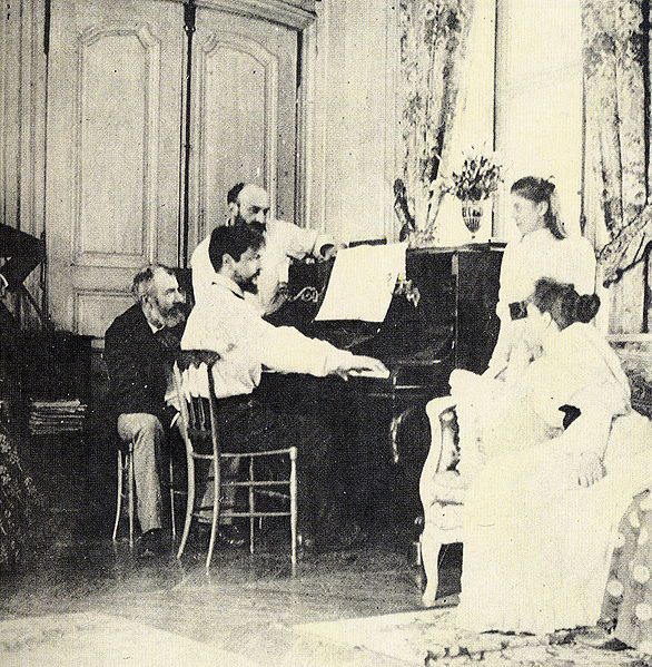Claude Debussy at the piano, 1893 (image)