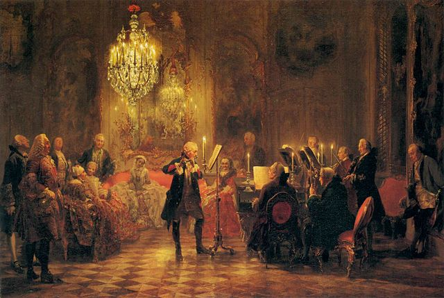 Flute Concert of Frederick the Great at Sanssouci (image)