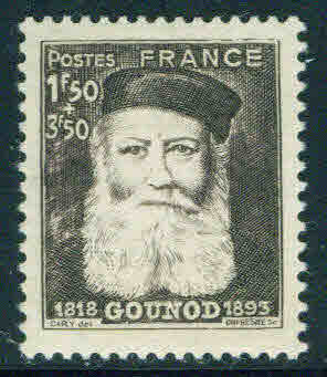 Charles Gounod on 1944 stamp from France (image)