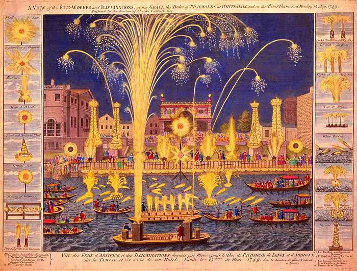 Royal Fire-Works and Illuminations, London, 1749 (image)