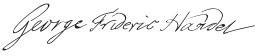 George Frideric Handel signature (image)