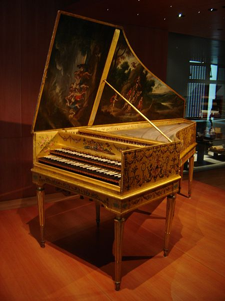 Harpsichord built in 1646 (image)