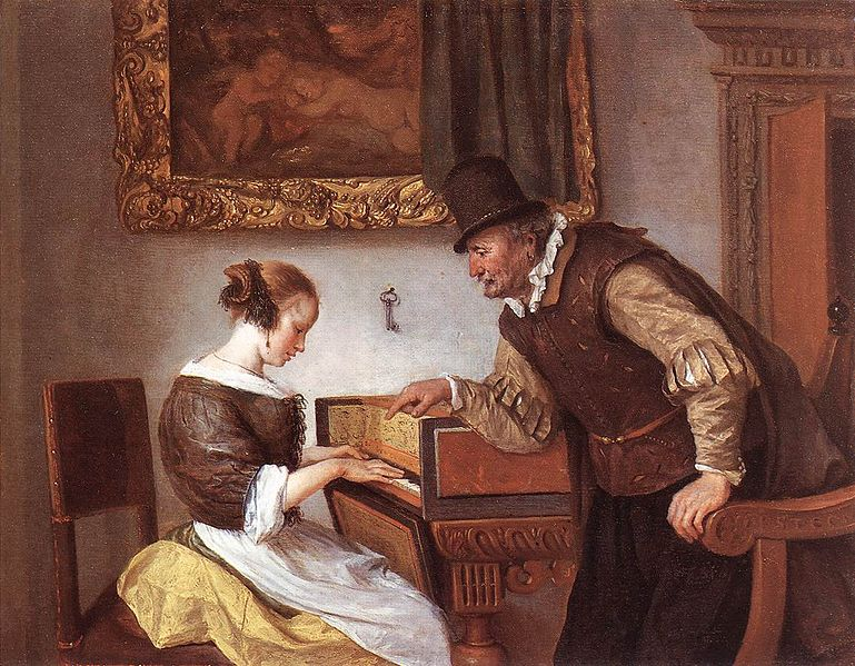 The Harpsichord Lesson, a painting by Jan Steen (image)