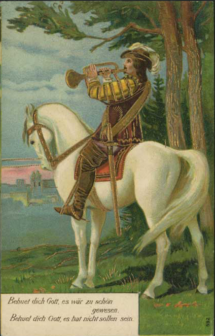 Horseman with trumpet (image)
