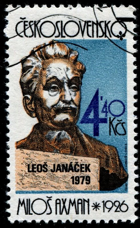 Leos Janacek as shown in Milos Axman's sculpture (image)