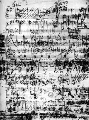Short-score sketch of Janacek's Jenufa (image)