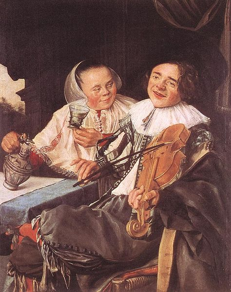 Carousing Couple (by Judith Leyster) (image)