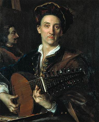 Man Playing a Lute (by Jan Kupecky) (image)