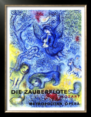 Mozart's Magic Flute - poster designed by Marc Chagall (image)