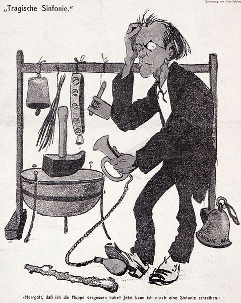 Cartoon of Gustav Mahler (image)