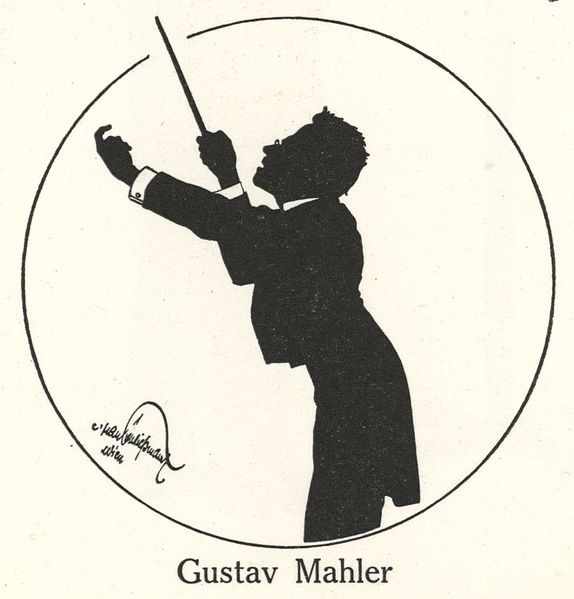 Silhouette of Gustav Mahler the composer (image)