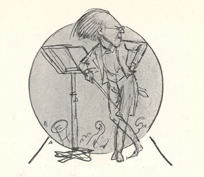 Cartoon of Mahler by Schliessmann (image)