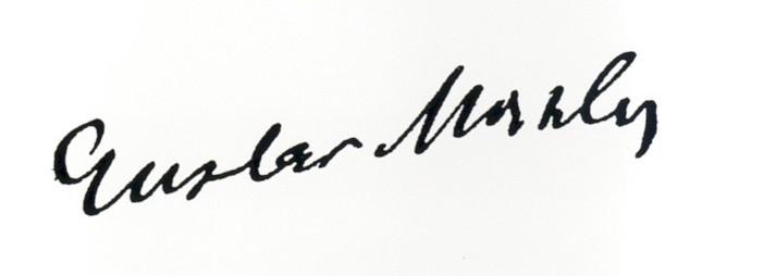 Gustav Mahler's signature (image)