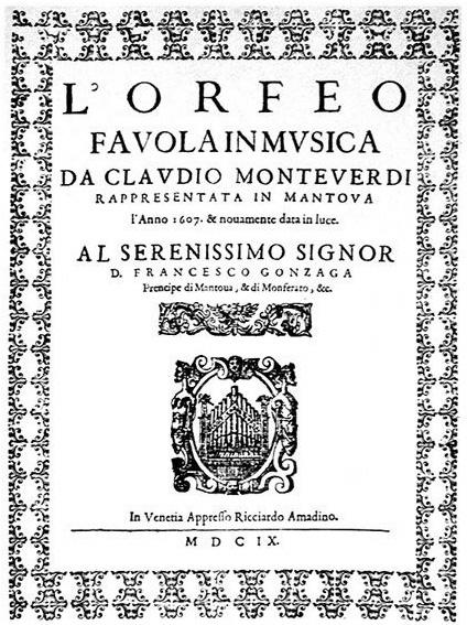 Orfeo by Claudio Monteverdi (image)
