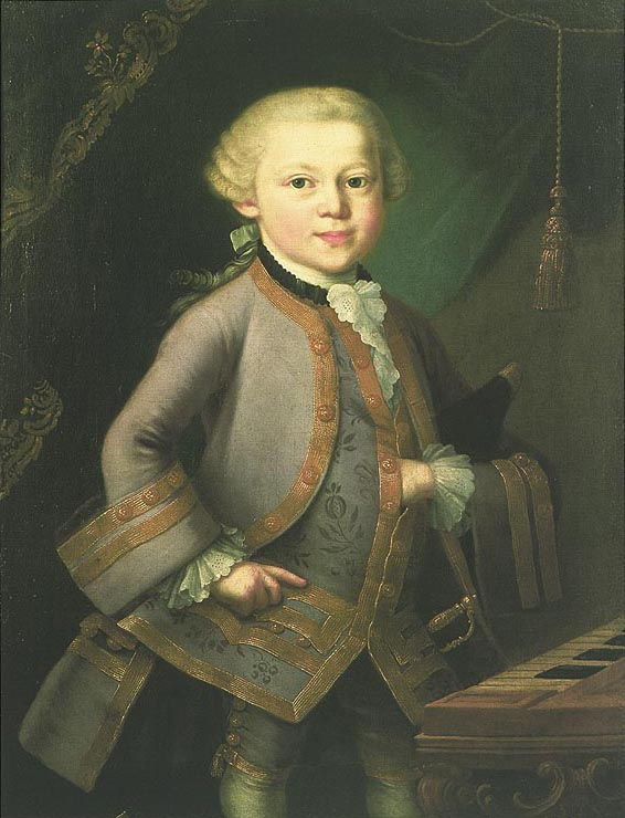 Mozart at the age of six (1763) (image)