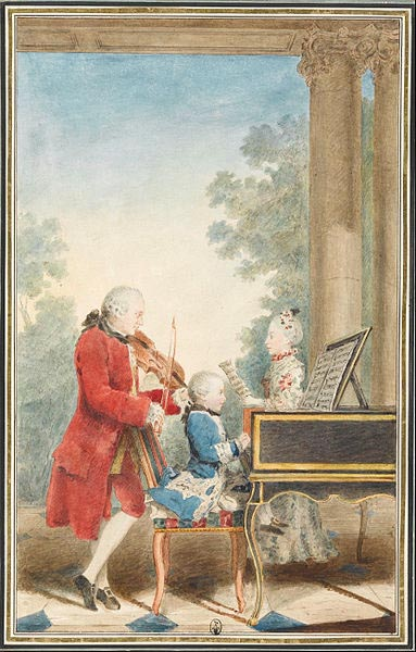 Mozart family on tour, 1763 (image)