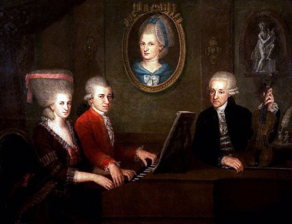 Mozart family, c. 1780 (image)