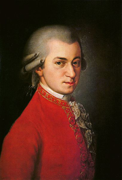 Mozart (painting by Barbara Krafft, 1819) (image)