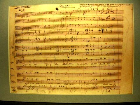 Mozart's Requiem Mass in D Minor - MS in Mozart's handwriting (image)