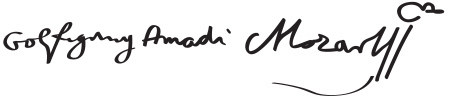 Mozart's signature (image)