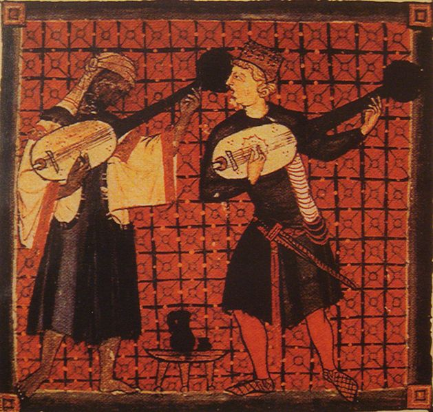 Muslim and Christian musicians playing ouds (image)