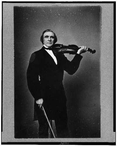 """Orne E. Bull"", a 19th century man with a violin (image)"