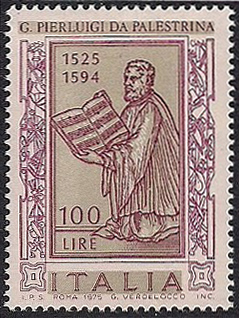 Palestrina on a stamp issued by Italy in 1975 (image)
