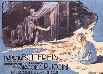Poster for Puccini's opera, Madame Butterfly (image)