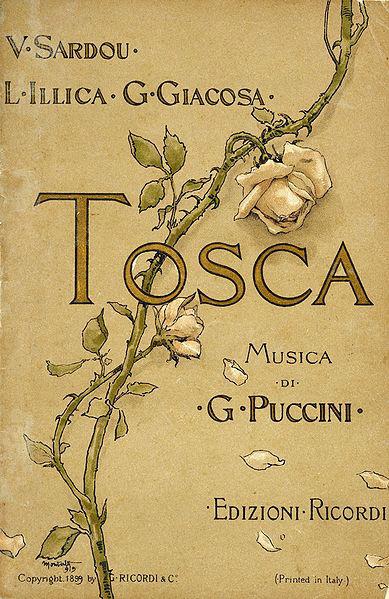 Libretto of Puccini's opera, Tosca (image)
