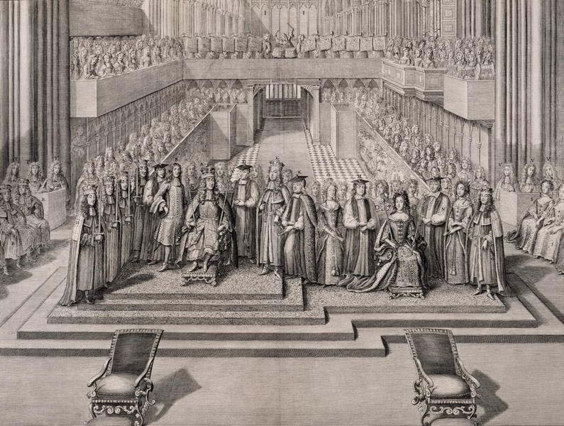 King James II of England's coronation, Westminster Abbey, 1685 (image)
