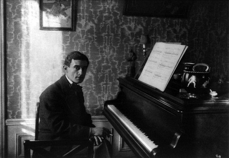 Maurice Ravel at the piano, circa 1915 (image)