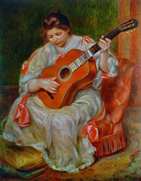 Renoir - Joueuse de Guitare (Guitar Player) (image)