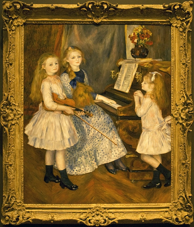 The Daughters of Catulle Mendes by Pierre-Auguste Renoir (image)